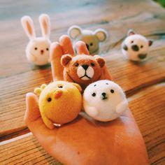 Handmade Needle felted felting kit project Woodland Animals cute for b | Feltify