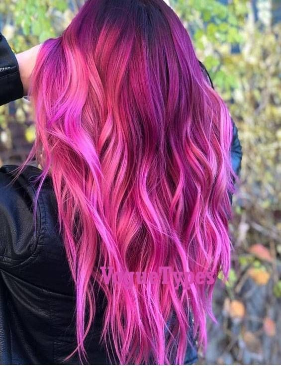 Dark Pink Hair Color Highlight Shades For Long Hair Do You Want To Customize Your Hair Colo Hair Color Highlights Pink Hair Color Highlights Hair Color Pink