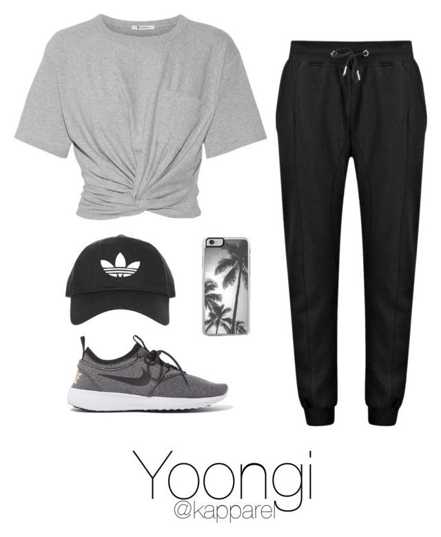 1ae82fe84096 Dance Practice: Yoongi by kapparel on Polyvore featuring moda, T By  Alexander Wang, NIKE and Topshop