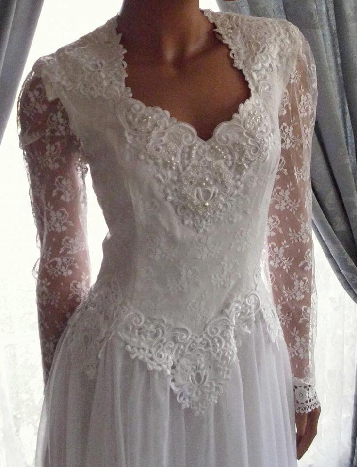 Jessica McClintock Wedding Dresses   Exquisite Gunne Sax Jessica McClintock Wedding Dress White Reserved ...