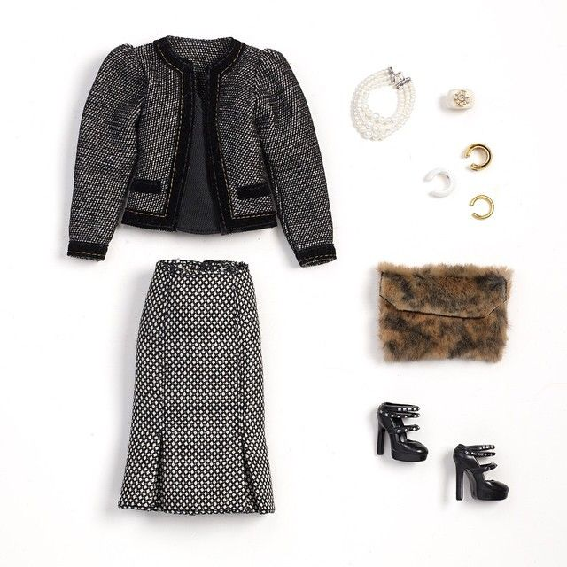 This look styled by @rachelzoe is perfect for a sophisticated New York night. #barbie #barbiestyle