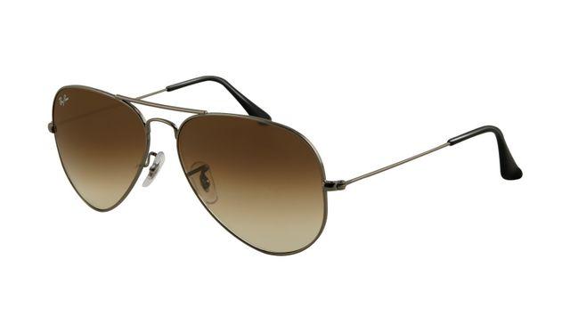 Ray Ban RB3025 Aviator Sunglasses Gunmetal Frame Crystal Brown G