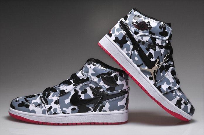 garçons nike shox vente - Pas cher Nike Air Jordan 1retro Pas Cher Hommes Chaussures Gris ...