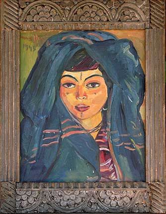 Portrait of a Young Girl, 1939 by Irma Stern. Post-Impressionism. portrait