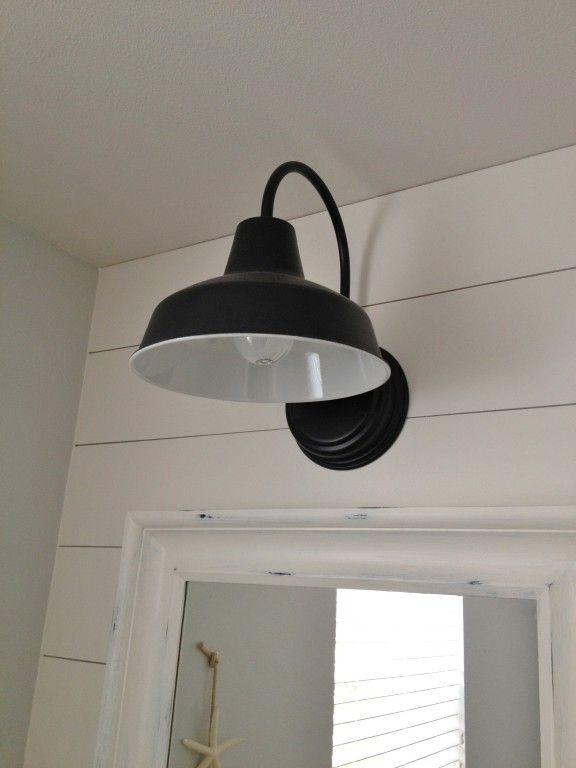 Barn Light Sconce For A Nautical Bathroom My New House