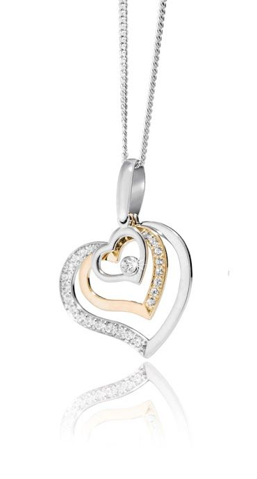 Silver and Cubic Zirconia Pendant R598 with Free Chain and Earrings  *Prices Valid Until 25 Dec 2013 #myNWJwishlist aaawww 3 hearts symbolising me,hubby and my boy,i love this