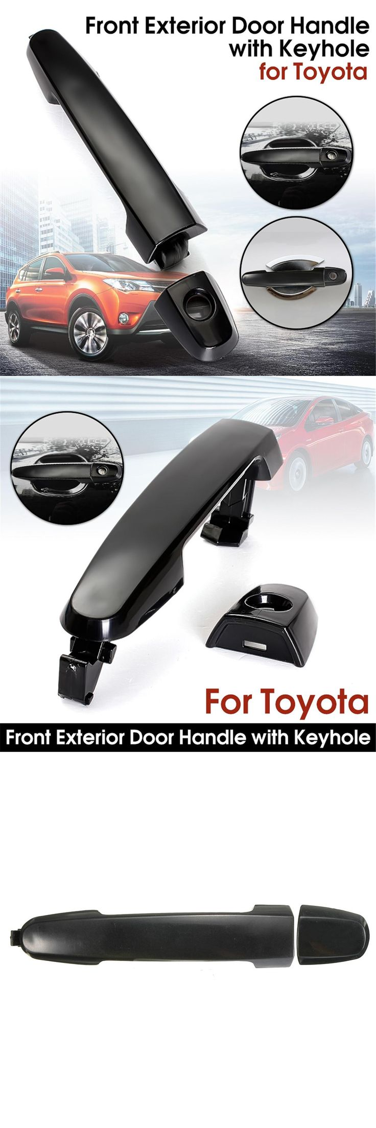 visit to buy front black outside outer exterior door handle for toyota camry 2001