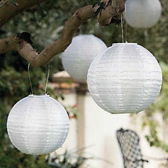 5 Witte Lampionnen