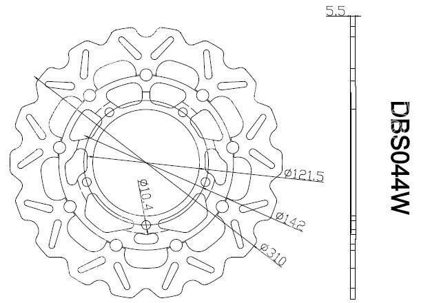 Mad Hornets - Front Brake Disc Rotors Suzuki Hayabusa GSXR1300 (08-12), B-KING (08-12), GSX F650 (08-11), GSX FA1250 (10-11), GSR 400 (06-10), GSF BANDIT (06-11), GSR 750 (2011), DL V-STROM (07-12) Arashi, $189.99 (http://www.madhornets.com/front-brake-disc-rotors-suzuki-hayabusa-gsxr1300-08-12-b-king-08-12-gsx-f650-08-11-gsx-fa1250-10-11-gsr-400-06-10-gsf-bandit-06-11-gsr-750-2011-dl-v-strom-07-12/)