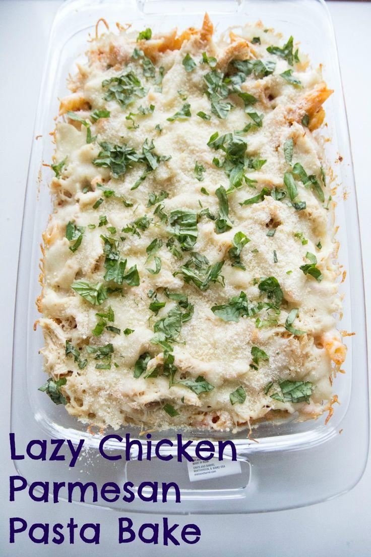 Lazy Chicken Parmesan Pasta Bake Recipe