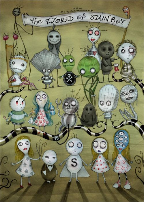 Tim Burton's dollies. The World of Stainboy is a series of flash animation shorts created in 2000 by director Tim Burton and animated by Flinch Studio. A tattoo idea FOR SURE.