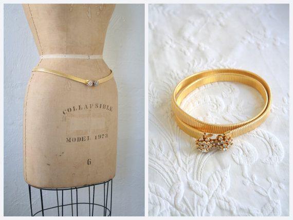 Glamourous stretch dorée ceinture snake / strass par AgeofMint