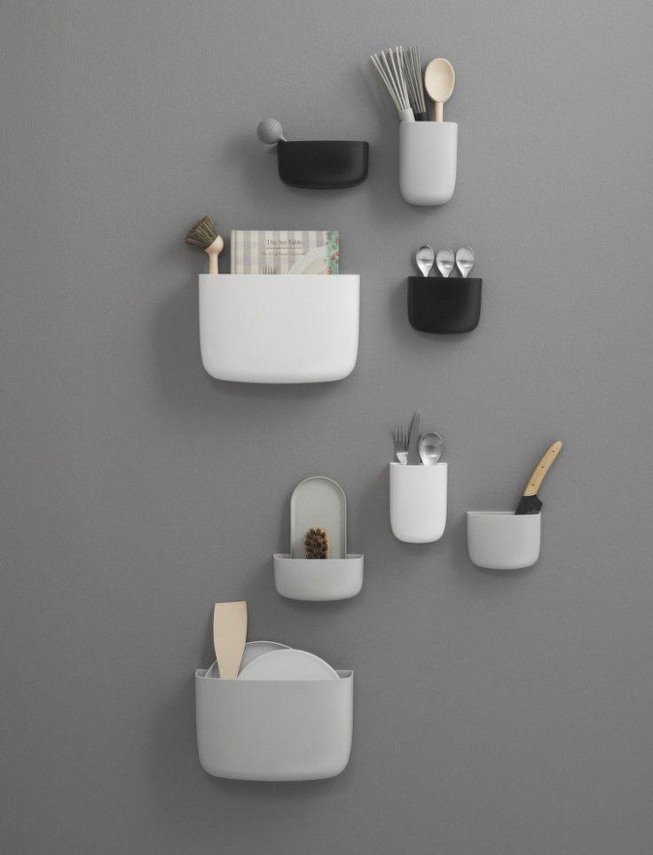 Organizér Pocket 3 od Normann Copenhagen, šedý | DesignVille