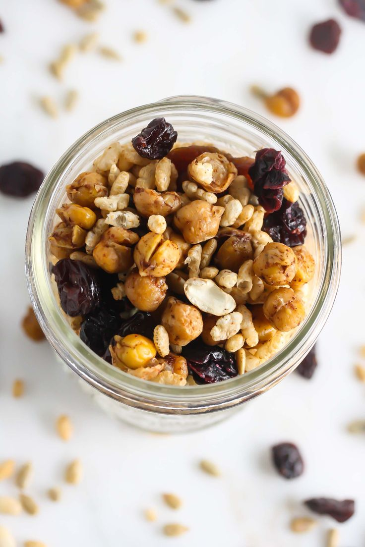 Roasted Chickpea Trail Mix {Vegan, Gluten-Free, Dairy-Free}   – Plant-based Eating