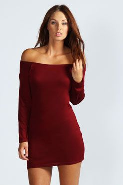 Off The Shoulder Long Sleeve Bodycon Dress $12.00  Get 7% cash back http://www.stackdealz.com/deals/Boohoo-com-Coupon-Codes-and-Discounts--/