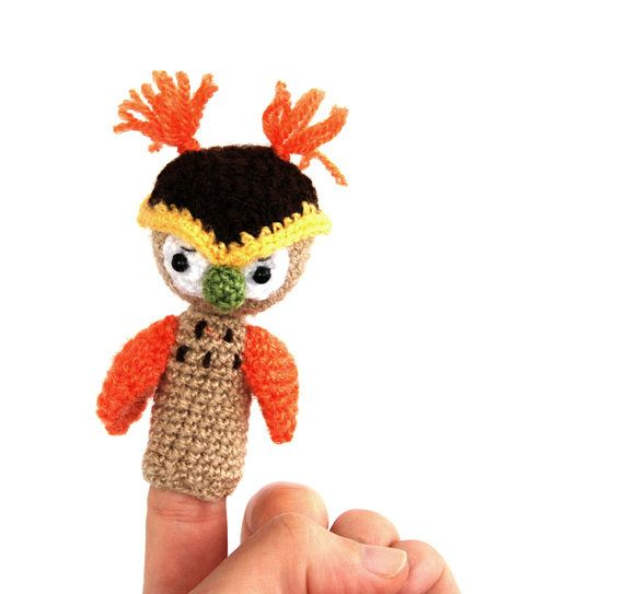$21.46 #amigurumi #OWL #puppet, #soft #finger #puppet, #waldorf #animal, #crochet #bird #puppet, #plush #puppet #owl, #owl #birthday #party #cutie, #gift #for #toddlers