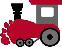 Footprint Train craft  |   Crafts and Worksheets for Preschool,Toddler and Kindergarten