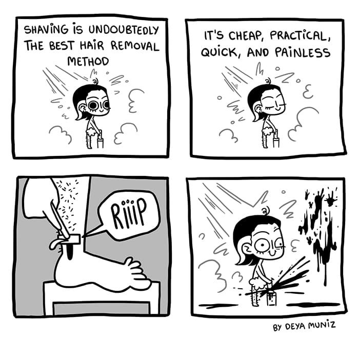 Brutally Honest :: Shaving | Tapastic Comics - image 1