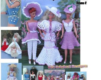 (1) CROCHET FASHION DOLL PATTERN FOR 11 1/2 Fashion Dolls such as Barbie. This is a pattern NOT the finished product.  #128 DEBUTANTE=Original Design from ICS Original Designs- Make with #10 Crochet Thread.  If you would like to have the patterns emailed to you rather than mailed shipping will be FREE but please let me know with your payment that this is what you want.  Buyers outside USA-Patterns are available through EMAIL ONLY  THESE PATTERNS ARE FOR PERSONAL USE ONLY AND ARE NOT FOR…