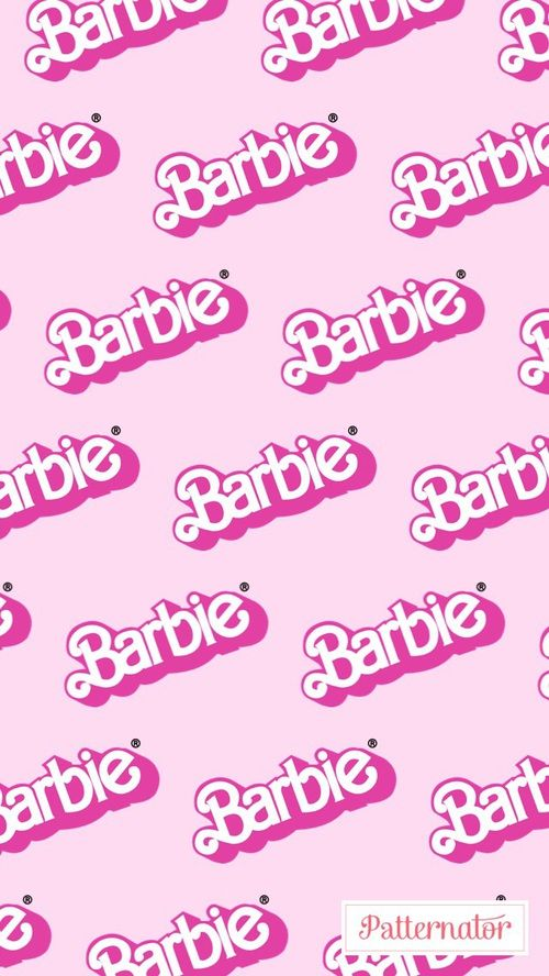 barbie, iphone, and wallpaper image Pink wallpaper