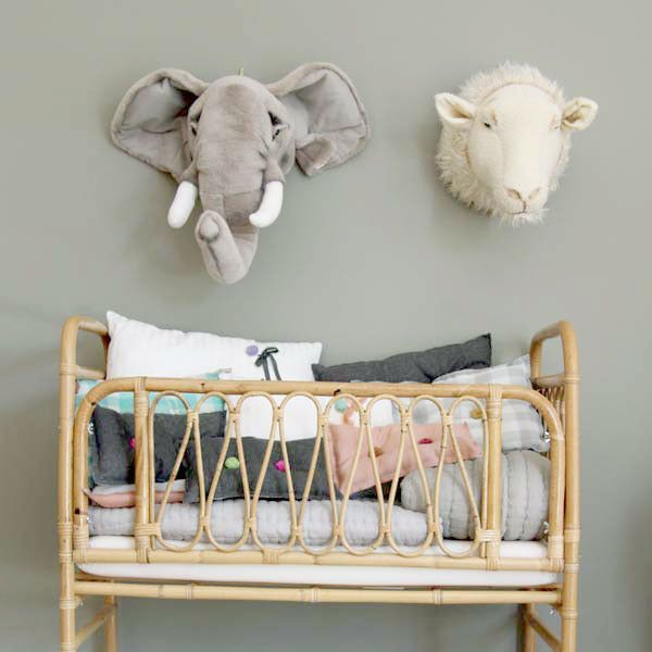 bel and soph stuffed animal heads  Trofeo Peluche Elefante by BIBIB | BelandSoph.com