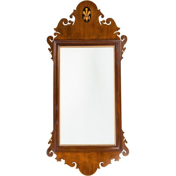 Pre-owned Colonial Style Wall Mirror ($325) ❤ liked on Polyvore featuring home, home decor, mirrors, brown, brown mirror, pine mirror, oversized mirrors, gilt mirror and colonial home decor