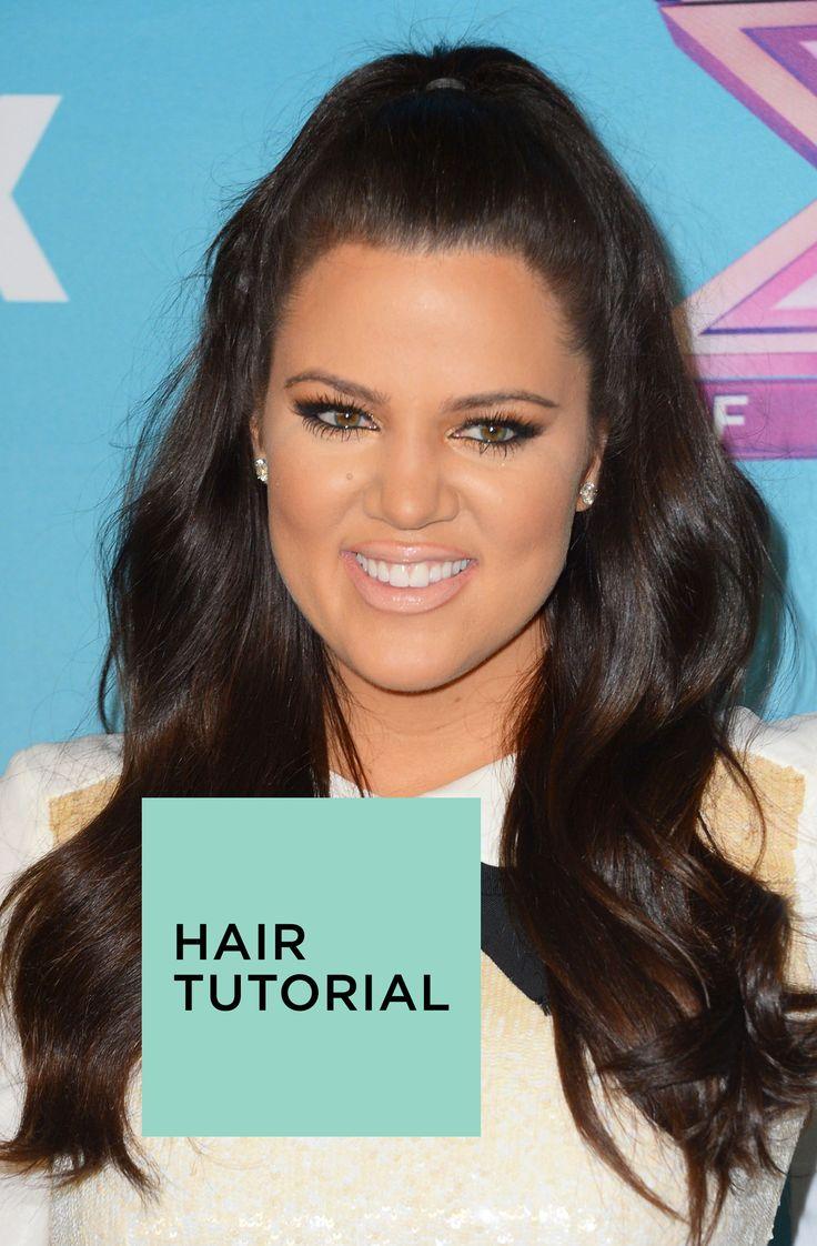 Half Ponytail Hairstyles 25 Best Ideas About Khloe Kardashian Hair Tutorial On Pinterest