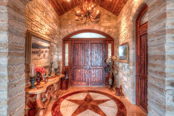 Entry of San Saba!!!! In love with this inlay and door!!!    LandsofTexas.com - Land for sale by Llano, Texas - San Saba County - 575 acres - 949229