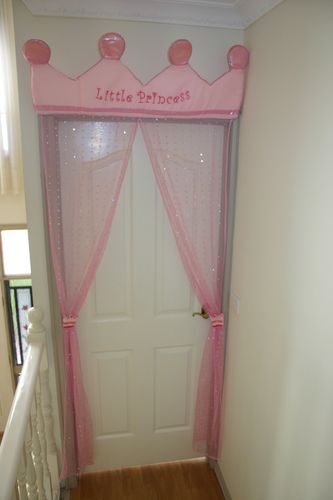 Little Princess Door Curtain. Cute idea if she wants a princess theme one day: