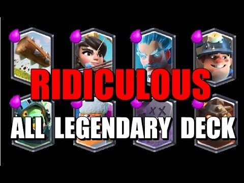 All Legendary Deck including the Graveyard - Insane Clash Royale Games