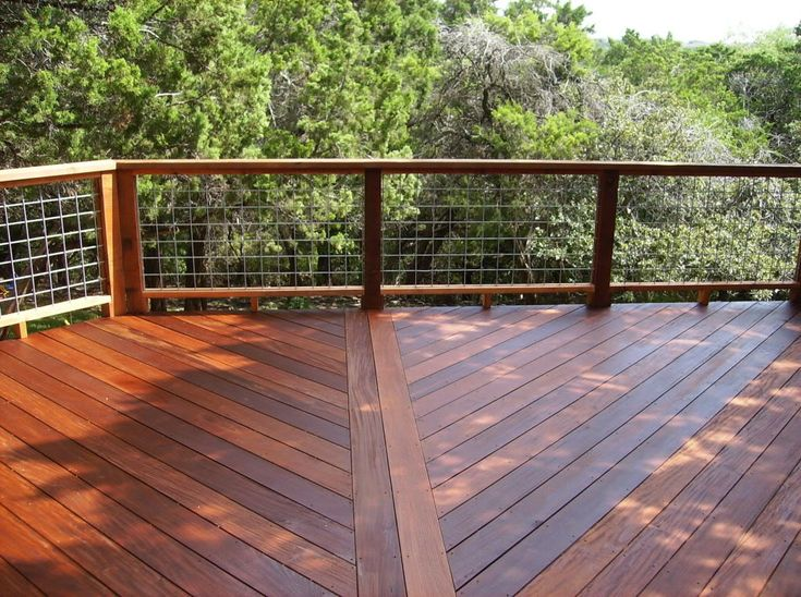 Deck railing using grid fencing panels pinterest