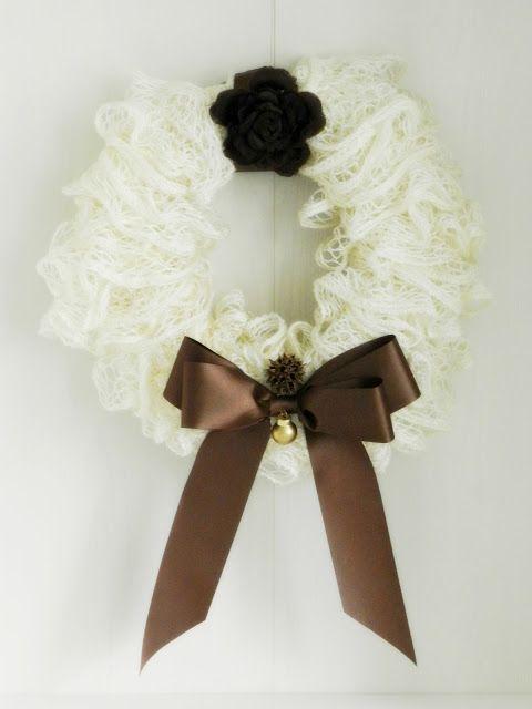 White Sashay Ruffle Wreath for Christmas