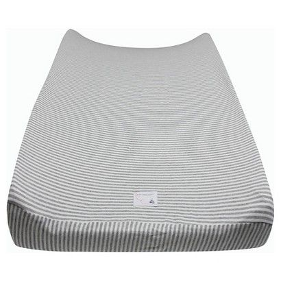 Burt's Bees Baby™ Organic Bee Essentials Stripe Changing Pad Cover - Heather Grey