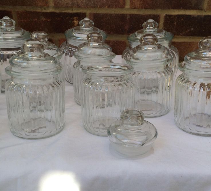 Vintage Style Glass Sweetie Jars available to hire.