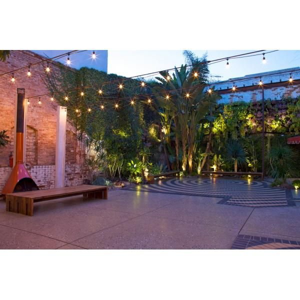 .: Courtyards Gardens, Hanging Lights, Marvimon Houses, Gardens Weddingvenueperfect, White Lights, The Angel, Backyard Parties, String Lights, Wedding Venues