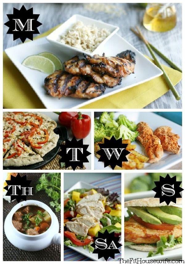 weekly menu21 Free Weekly Meal Planner