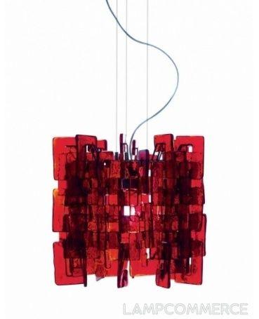 AV Mazzega #Sixty hanging #lamp #red Design Carlo Nason