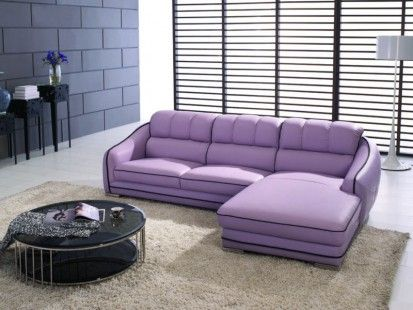 http://www.bawtie.com/comfortable-purple-leather-sofa/ Comfortable Purple Leather Sofa : Simple Purple Leather Sofa