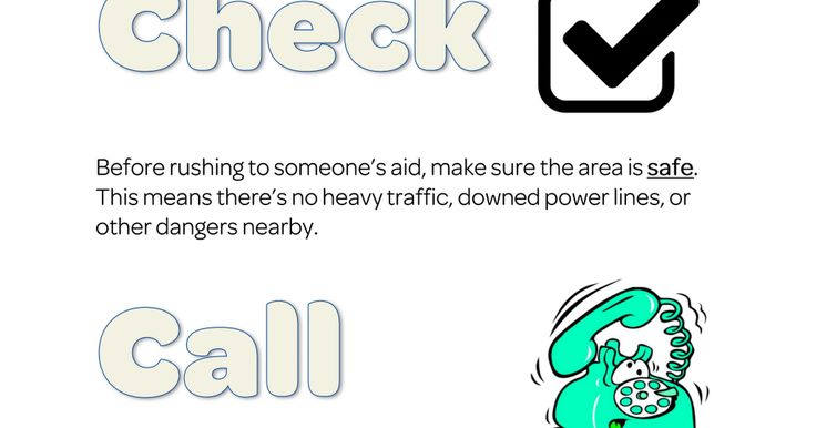 Check, call, care.pdf First aid for kids, Funny slogans