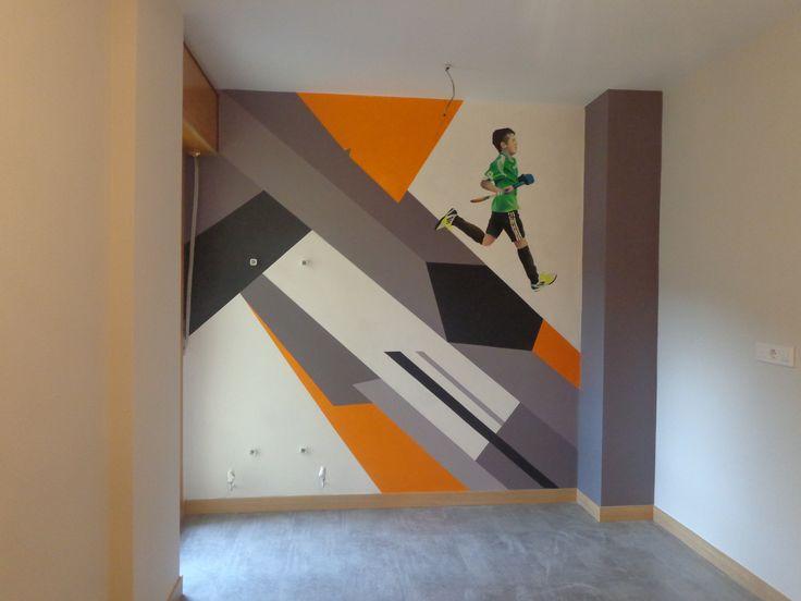 pintura en habitación, los niñ@s van creciendo...