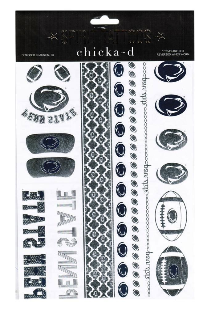 Penn State Nittany Lions Metallic Temporary Tattoos