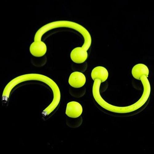 Piercing horseshoe geel