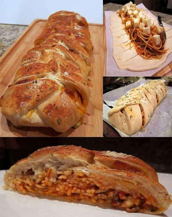Easy Braided Spaghetti Bread Recipe | Easy Life Hacks