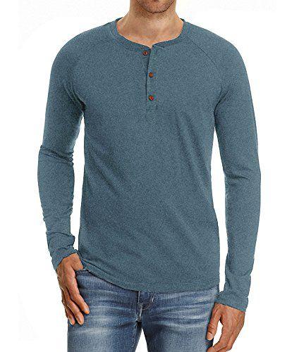 a0c2162b7970 Mr.Zhang Men's Casual Slim Fit Long Sleeve Henley T-Shirts Cotton Shirts  #tshirt #shirts #men #tees