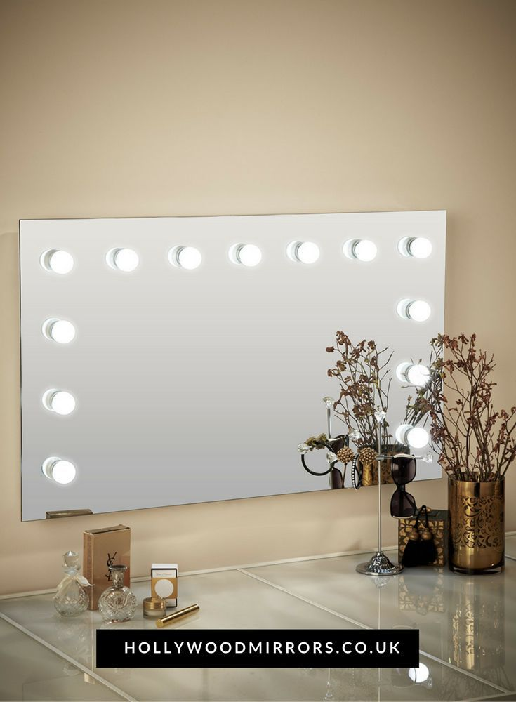 Hollywood Mirrors | Mirror Size 60 X 100cm | https://www.hollywoodmirrors.co.uk/products/large-vanity-light-bulb-mirror The largest version of our vanity light bulb mirror; it's the makeup mirror for many Hollywood stars. Our handmade illuminating mirrors are for both home & professional use!