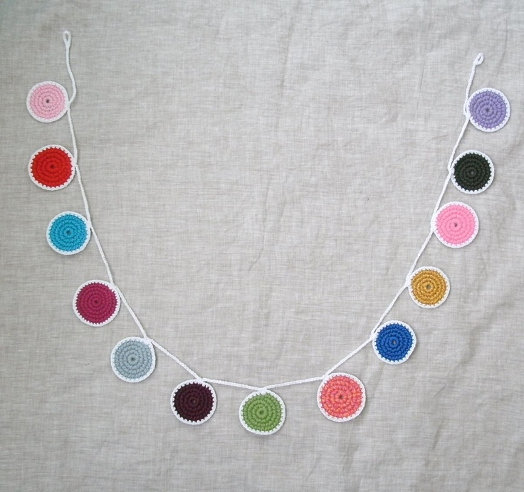 Colorful Dots Crochet Garland!