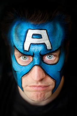 Lisa Joy Young | Captain America Face Painting