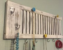 Shutter jewelry rack, shutter decor, Jewelry holder, jewelry display, shutter…