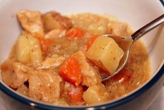 Slow Cooker Pork Stew. So, so, so good!!!! I bought the pre-cut pork stew meat from Sam's, then cleaned it up a little more. I didn't use the bay leaf. It was delicious! I'll fix this again!! ~RFC
