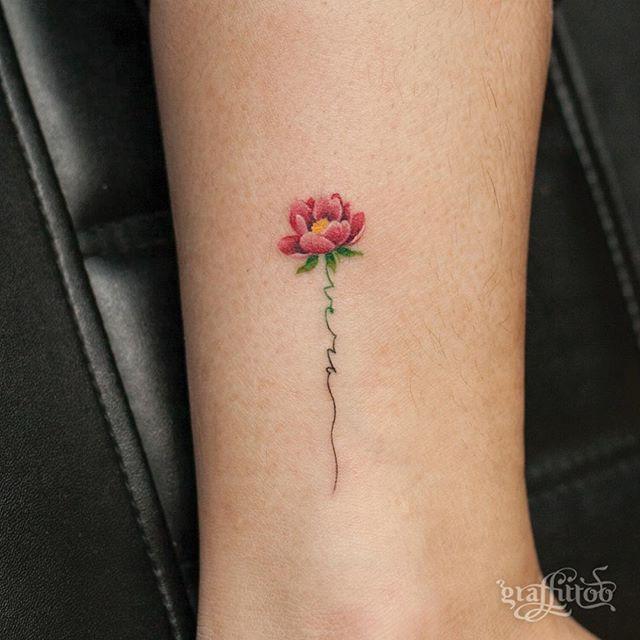 꽃 - #타투 #그라피투 #타투이스트리버 #디자인 #그림 #디자인 #아트 #일러스트 #tattoo #graffittoo #tattooistRiver #design #painting #drawing #art #Korea #KoreaTattoo #flower #minitattoo #꽃타투 #미니타투